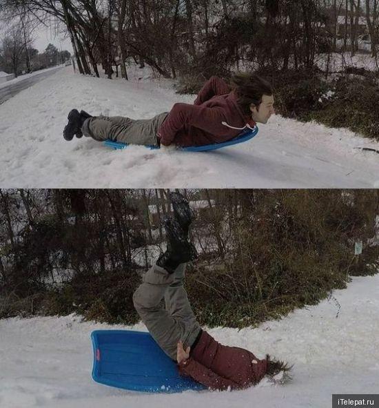 Еблом в снег